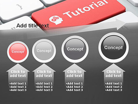 Tutorial Button PowerPoint Template Slide 13