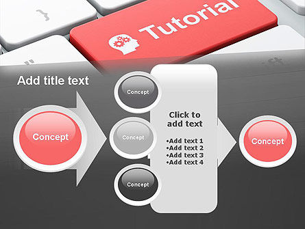 Tutorial Button PowerPoint Template Slide 17