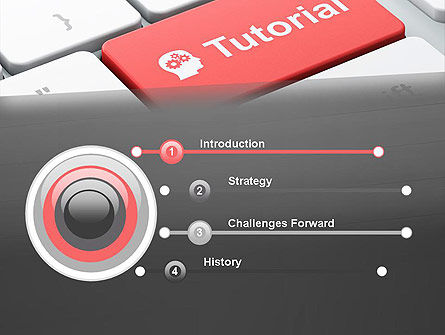 Tutorial Button PowerPoint Template Slide 3