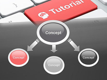 Tutorial Button PowerPoint Template Slide 4