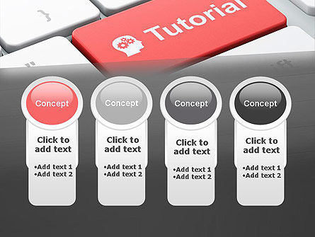 Tutorial Button PowerPoint Template Slide 5