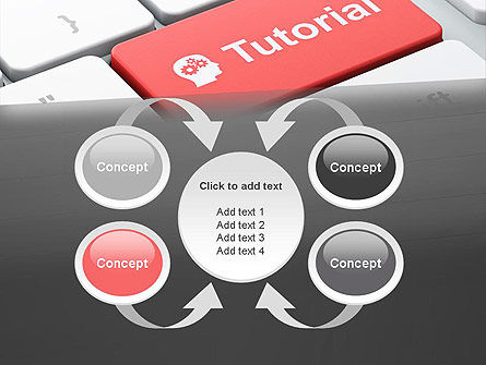 Tutorial Button PowerPoint Template Slide 6