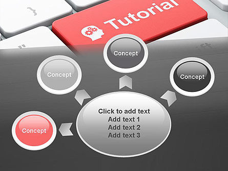 Tutorial Button PowerPoint Template Slide 7