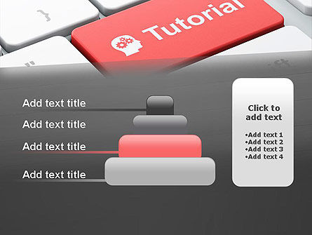 Tutorial Button PowerPoint Template Slide 8