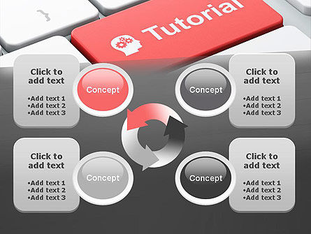 Tutorial Button PowerPoint Template Slide 9