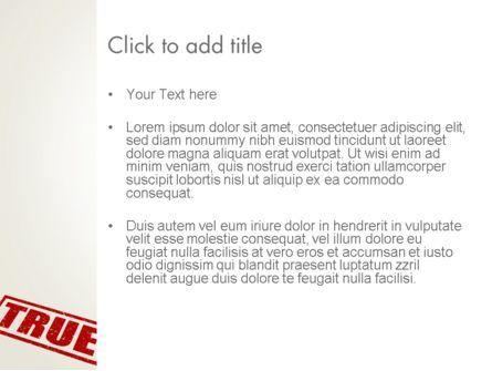True Rubber Stamp PowerPoint Template, Slide 3, 12780, Business Concepts — PoweredTemplate.com