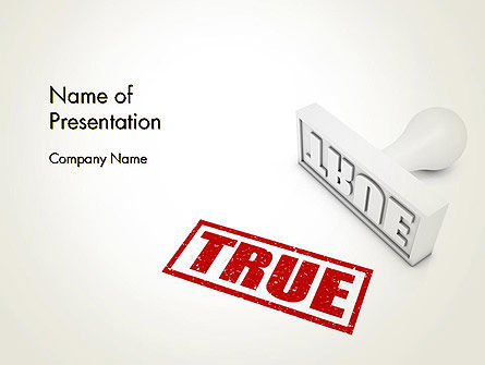 True Rubber Stamp PowerPoint Template