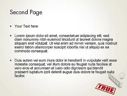 True Rubber Stamp PowerPoint Template, Slide 2, 12780, Business Concepts — PoweredTemplate.com