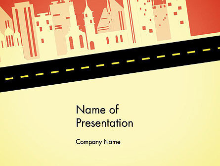 City Road Side View PowerPoint Template