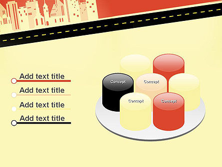 City Road Side View PowerPoint Template Slide 12