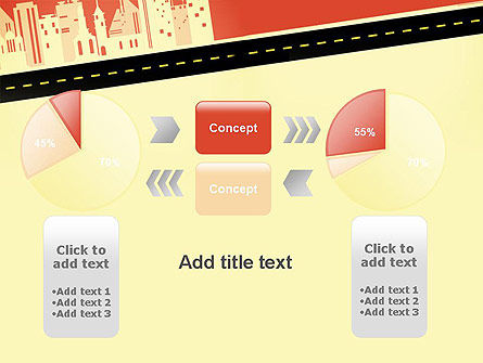 City Road Side View PowerPoint Template Slide 16