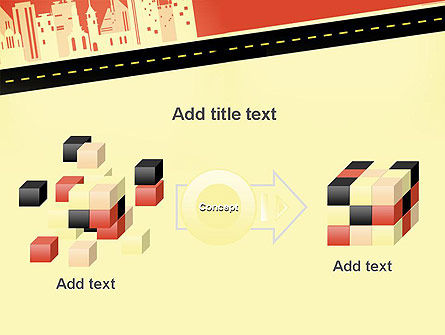 City Road Side View PowerPoint Template Slide 17