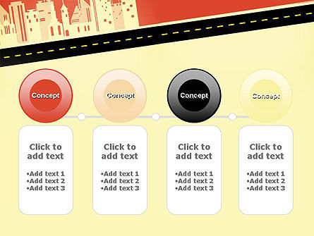 City Road Side View PowerPoint Template Slide 5