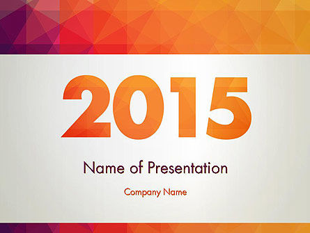 2015 in Modern Flat Style PowerPoint Template, 12784, Holiday/Special Occasion — PoweredTemplate.com