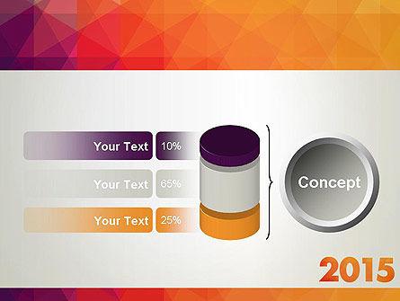 2015 in Modern Flat Style PowerPoint Template Slide 11