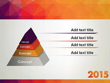 2015 in Modern Flat Style PowerPoint Template Slide 12