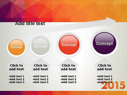 2015 in Modern Flat Style PowerPoint Template Slide 13
