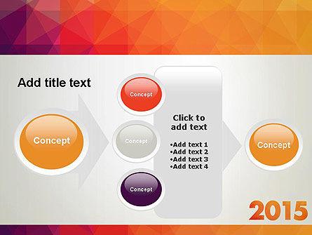 2015 in Modern Flat Style PowerPoint Template Slide 17