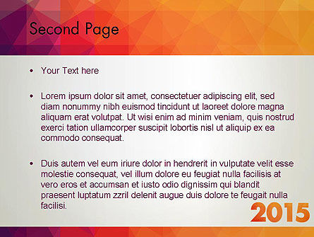 2015 in Modern Flat Style PowerPoint Template, Slide 2, 12784, Holiday/Special Occasion — PoweredTemplate.com