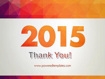 2015 in Modern Flat Style PowerPoint Template Slide 20