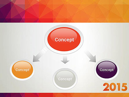 2015 in Modern Flat Style PowerPoint Template, Slide 4, 12784, Holiday/Special Occasion — PoweredTemplate.com