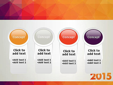 2015 in Modern Flat Style PowerPoint Template Slide 5