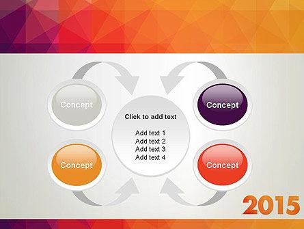 2015 in Modern Flat Style PowerPoint Template Slide 6