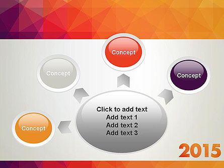 2015 in Modern Flat Style PowerPoint Template Slide 7