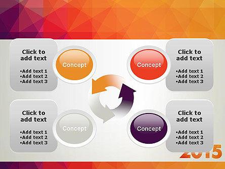 2015 in Modern Flat Style PowerPoint Template Slide 9