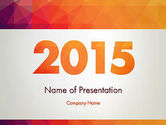 Holiday/Special Occasion: 2015 in Modern Flat Style PowerPoint Template #12784