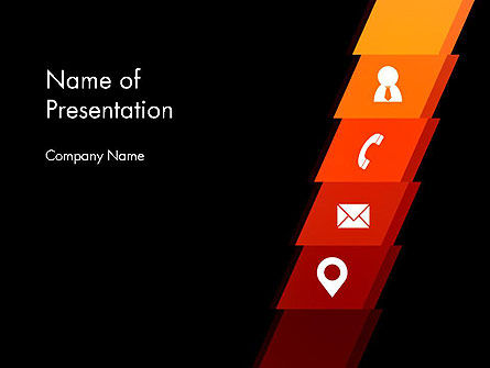 Company Contacts PowerPoint Template, 12785, Business Concepts — PoweredTemplate.com