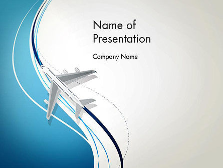 Airplane Theme PowerPoint Template, 12788, Cars and Transportation — PoweredTemplate.com