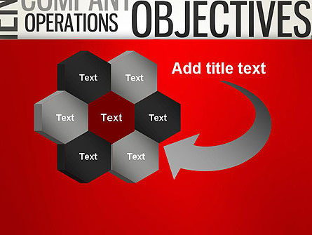Objectives and Targets Word Cloud PowerPoint Template Slide 11
