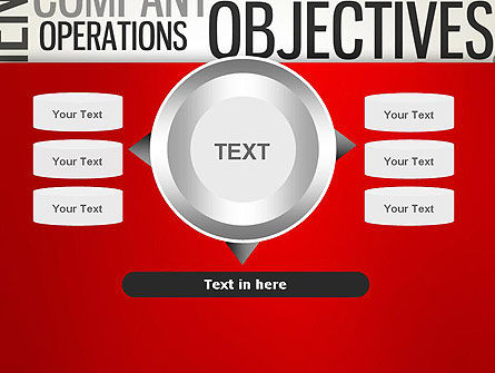 Objectives and Targets Word Cloud PowerPoint Template Slide 12