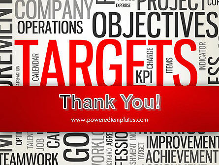 Objectives and Targets Word Cloud PowerPoint Template Slide 20