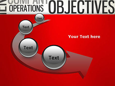 Objectives and Targets Word Cloud PowerPoint Template Slide 6