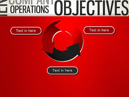 Objectives and Targets Word Cloud PowerPoint Template Slide 9