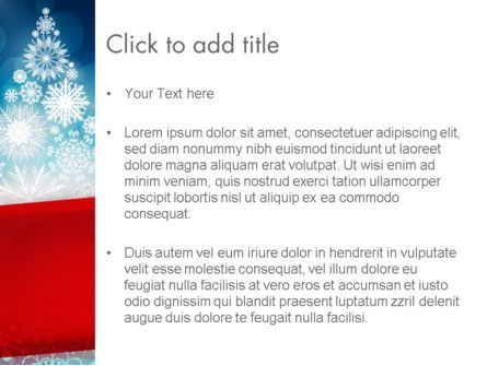 Snowflakes Christmas Tree PowerPoint Template, Slide 3, 12796, Holiday/Special Occasion — PoweredTemplate.com