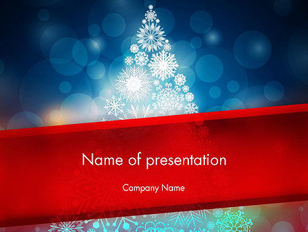 Holiday/Special Occasion: Snowflakes Christmas Tree PowerPoint Template #12796