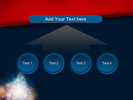 Snowflakes Christmas Tree PowerPoint Template Slide 8