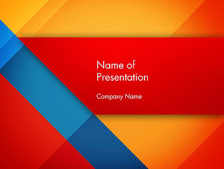 Abstract/Textures: Geometric Colorful Pattern PowerPoint Template #12797