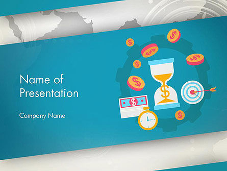 Financial World PowerPoint Template, 12799, Financial/Accounting — PoweredTemplate.com