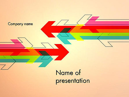 Abstract/Textures: Arrows Pointing Towards Each Other PowerPoint Template #12800