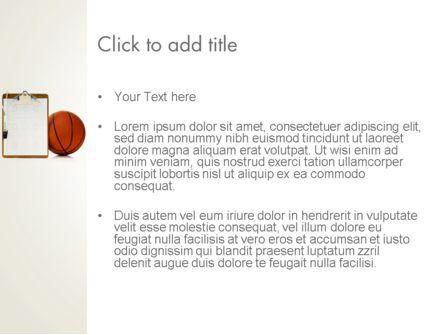Basketball Coach PowerPoint Template, Slide 3, 12801, Sports — PoweredTemplate.com