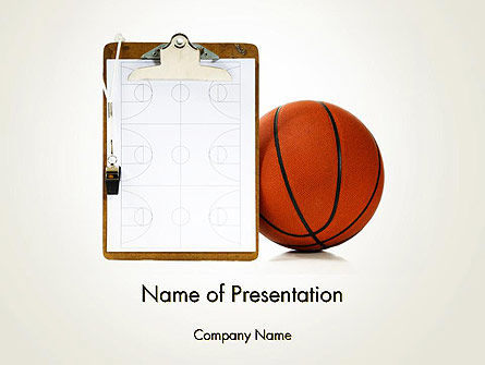 Sports: Basketball Coach PowerPoint Template #12801