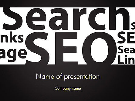 Careers/Industry: SEO Word Cloud PowerPoint Template #12802