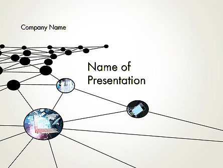Network Nodes PowerPoint Template