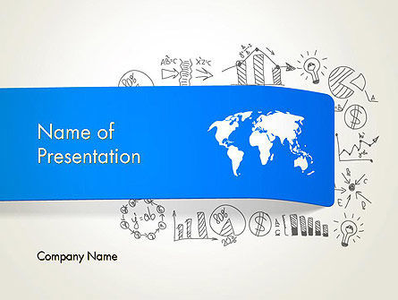 World Map and Charts PowerPoint Template, 12806, Business Concepts — PoweredTemplate.com