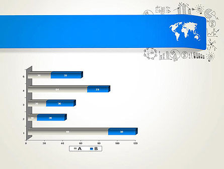 World Map and Charts PowerPoint Template Slide 11