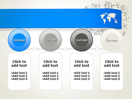 World Map and Charts PowerPoint Template Slide 5